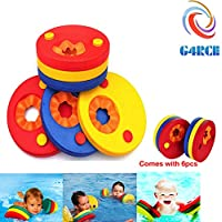 G4RCE® 6 Pcs Swim Discs EVA Foam Arm Bands Float For Swimming Baby Kids Children Eco Friendly Up To 12 years Unisex