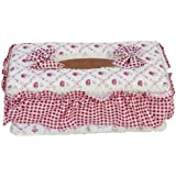 Pastoral Style Rectangle Tissue Box Paper Holder---Floral Pattern