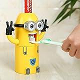 discountseller Minions Zahnpastaspender und Zahnbürstenhalter Set Automatische Zahnpasta Squeezer