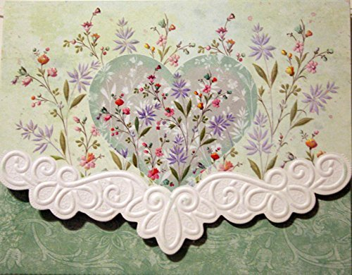 Carol Wilson Floral Heart 10 ct Embossed Note Card Set For Arts Sake by Carol's Rose Garden (Fine Carol Wilson Arts)