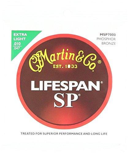Martin Lifespan SP - Corde per chitarra, tensione: Extra Light, 92/8, al bronzo fosforo, 6 pezzi - 92/8 Phosphor Bronze Strings