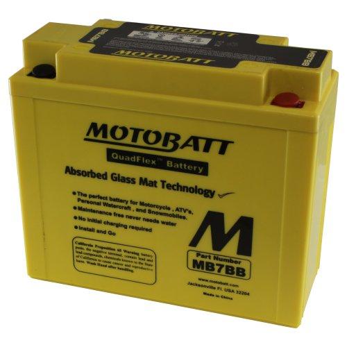 MOTOBATT MB7BB (12V 9Amp) 150CCA Factory attivato Quadflex AGM batt