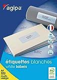 Best Bourrage papier couleur Lasers - AGIPA Lot de 3 Boites 6500 étiquettes 38x21,2 Review
