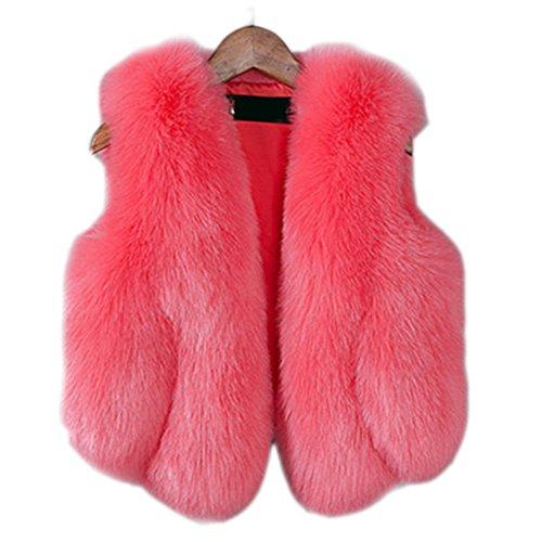 FOLOBE Niño Faux Fox Abrigo Piel Jacket Chaleco Invierno