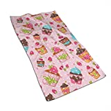 Tyueu Handtücher Kitchen Cupcakes Muffins Microfiber Towels 27.5' X 17.5' Polyester Personality Funny Pattern Super Absorbent for Bathroom,Kitchen,Wash Car,Cleaning Towel