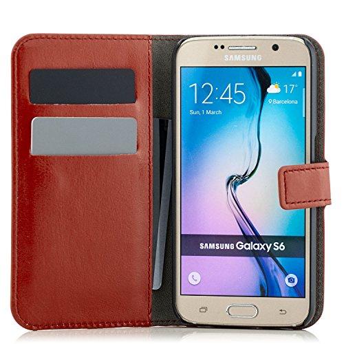 Coque Apple iPhone SE / 5 / 5S [Saxonia] Housse Etui Ultra Mince Case Flip Cover avec Poche intérieur Wallet Haute Qualité Marron Marron