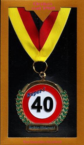 40. Geburtstag Orden Geschenkidee bunt 6,5cm Einheitsgröße