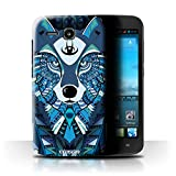 Stuff4 Phone Case/Cover for Huawei Ascend Y600 / Wolf-Blue