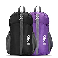 Giwil 20L Ultra Lightweight Packable Backpack Hiking Daypack for Men and Women/ Handy Foldable Camping Outdoor Travel Cycling School Air Travelling Carry on Backpacking for Men and Women Black