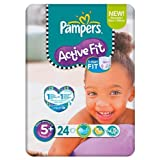 Pampers Active Fit Größe 5 + (13-27kg) Carry Pack 6 pack x 24 pro Packung