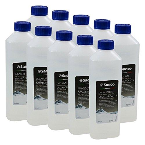 Saeco Flüssig-Entkalker für Kaffeevollautomaten, 500 ml Flasche, 10er Pack (10 x 500ml)