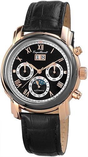 Engelhardt Herren-Armbanduhr XL Analog Automatik Leder 388731029013