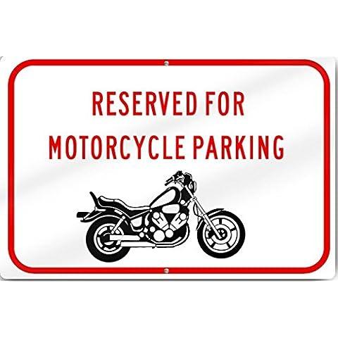 Horizontal reservado aparcamiento de la motocicleta (gráfico) señal altura de 12de ancho x 18inch reflectante de aluminio de calibre pesado