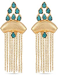 Tistabene Retails Contemporary Western Style Colored Stone Dangler Earring | Gold Plated Colored Dangler Earring...