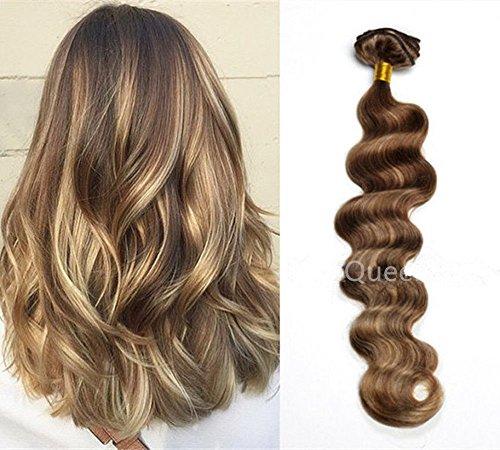 Hotqueen Remy européen Clip en Extensions de cheveux humains de vue Ombre ondulés 7 pcs 100 g