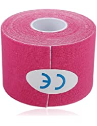 Rollen Rouleau Kinesiologie Tape 5mx5cm Kinesiology Elastique Medical Tape Sport rose
