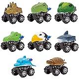 Limtoys Spingere e andare giocattoli auto Serie animale auto per bambino bambino - Friction Powered giocare veicoli Set (A)