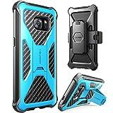 i-Blason Prime Samsung Galaxy S7 Hülle Outdoor Handyhülle Dual Layer Case Stoßfest Schutzhülle Cover mit Ständer und Gürtelclip, Blau