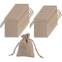 Bolsas de Arpillera con Bolsas de Cordón de Regalo para Fiesta de Boda y Artesanía de DIY, 4.5 X 3.5 Pulgadas, Mucho de 20