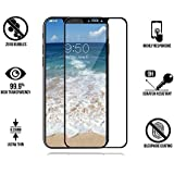 Iphone X Tempered Glass 5d (Combo Of Front Black Color And Back Transparent) By MOBIHUB Iphone X Tempered Glass Anti Glare Iphone X Tempered Glass Back And Front Iphone X Tempered Glass Camera Iphone X Tempered Glass Edge To Edge With Free Camera Lens