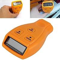 Outil de mètre de mesure de l'épaisseur de fer de peinture automobile ultrasonique numérique (couleur: orange)