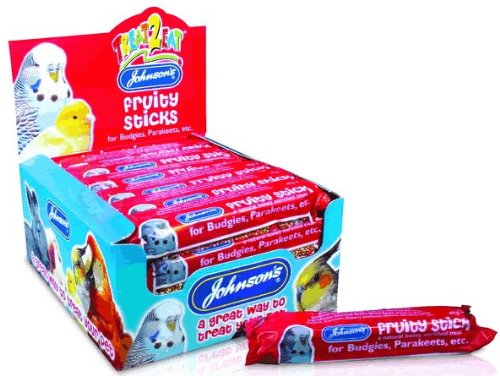 Wellensittich & Sittich Super Fruit Stick Bird Treat 45 g - Johnsons (P) (n045 W) (Full Box 28 Stück)