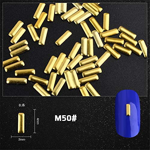 BigBig Style Mischstein-Nagel-Dekorationen-Nagel-Kunst-Aufkleber-Maniküre bearbeitet Bunte Steinglas-Kunst-Aufkleber, unregelmäßigen Stein-Nagel-Aufkleber (Color : Blau)