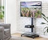 FITUEYES Soporte Móvil de Suelo con 2 Estantes para TV LCD LED OLED Plasma Plano Curvo 32-65 Pulgadas TT206505GB
