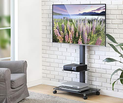 FITUEYES Soporte Móvil de Suelo con Estante para TV LCD LED 32-65...