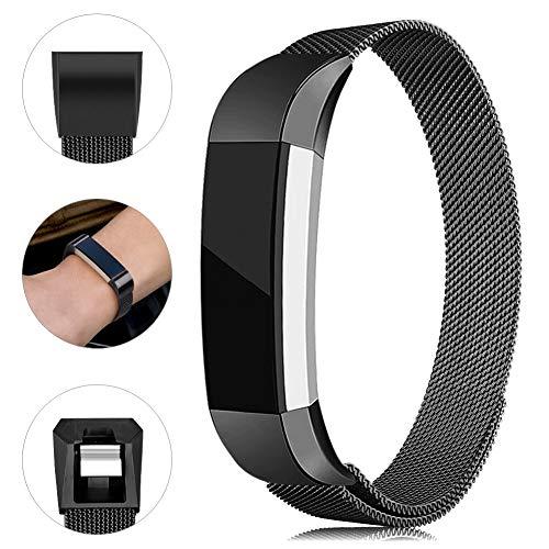 Onedream Kompatibel für Fitbit Alta Hr Ace Armband Damen Herren Metall Edelstahl Ersatzarmband Uhrenarmband Zubehör Kompatibel für Fitbit Alta Hr/Alta Schwarz Kleine