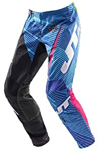 JT Racing - Pantalon cross - FLEX SPLICE BLACK/BLUE/PINK 2014 - Couleur : Noir/Bleu/Rose - Taille : 34 US