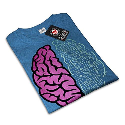 Gehirn Wende Auf Platte Komisch Damen S-2XL T-shirt | Wellcoda Royal Blue