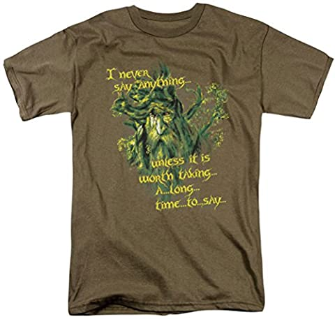 Lord Of The Rings - Slow Talker Adult Short Sleeve T-Shirt In Safari Green, XXX-Large, Safari Green