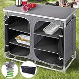 Armario de Cocina para Camping Plegable | con 6Compartimentos, 97x78x47,5cm, con Estuche, 100% Polyester,...