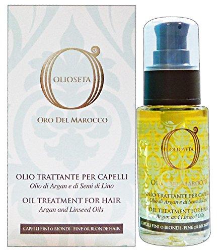 Barex Italiana OlioSeta Oil Treatment For Blonde-Fine Hair Argan & Linseed Oil (1.01 oz.) by Barex