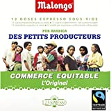 Malongo - Dosettes de café pur arabica, culture des petits producteurs - Le paquet de 75g - Livraison Gratuite pour les commandes en France - Prix Par Unité