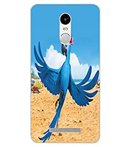 ColourCraft Lovely Parrot Design Back Case Cover for XIAOMI REDMI NOTE 3