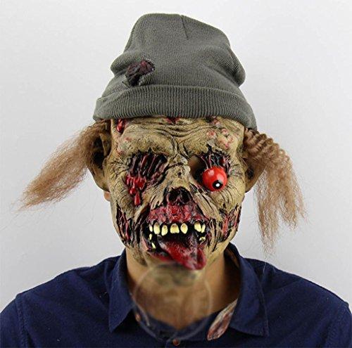 MFFACAI Zombie Halten Sie das Grab Übelkeit Terror Böse Geister Halloween Bar Spukhaus Requisiten Hedging Komisch Maske
