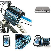 Bolso Bolsa Funda Bicicleta para Elephone P8000 4G, Funda Móvil soporte tubo Bici, azul, Impermeable Resistente al Agua - K-S-Trade(TM)