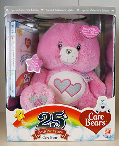 Special Collectors Edition Pink Love a Lot Care Bear 25th Anniversary Swarvoski Eyes