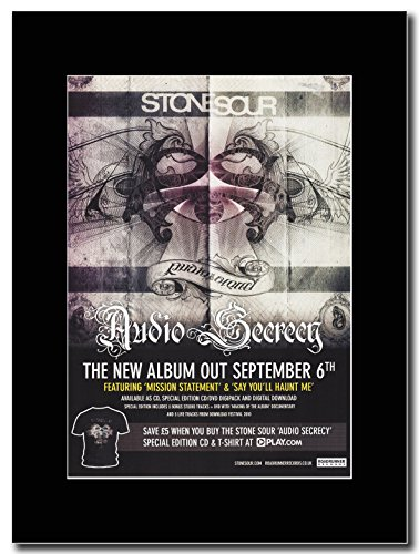 Stone Sour - Audio Secrecy Magazine Promo on a Black Mount