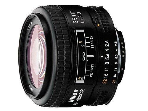 Nikon AF Nikkor 28mm f/2.8d Objektiv, Schwarz [Nital Card: 4Jahre Garantie] (Nikon D5200 Dslr-kamera)