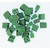 E-Simpo ® 30-Pack 2Bastones 9,5mm Pitch PCB Soporte Tornillo Bloque De Terminales, 300V 30A, elt950–2P