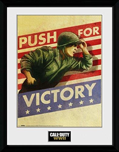Preisvergleich Produktbild 1art1 108383 Call Of Duty - WWII Push For Victory Gerahmtes Poster Für Fans Und Sammler 40 x 30 cm