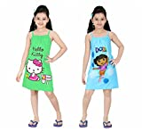 #3: Red Rose Girls Cotton Printed Slip - Pack of 2