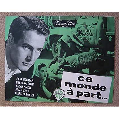 Dossier de presse de Ce monde à part… (1959) – 24x61 cm - Film de Vincent Sherman avec Paul Newman, Barbara Rush – Photos N&B + résumé du scénario – Bon état.