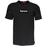 Supreme Italia Herren T-Shirt Logo Patch (M, Black-White)