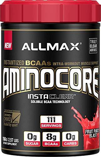 SPORTS NUTRITION SOURCE Allmax aminocore aminosäuren pulver mit den essentiellen aminosäuren Fruit Punch Blast 111 portionen, 1er Pack (1 x 1166 g)