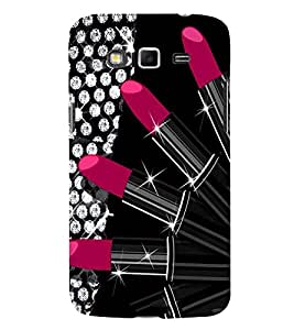 Takkloo shiny pattern ( pink lipstic, cover for Girl, black background) Printed Designer Back Case Cover for Samsung Galaxy Grand Neo I9060 :: Samsung Galaxy Grand Lite