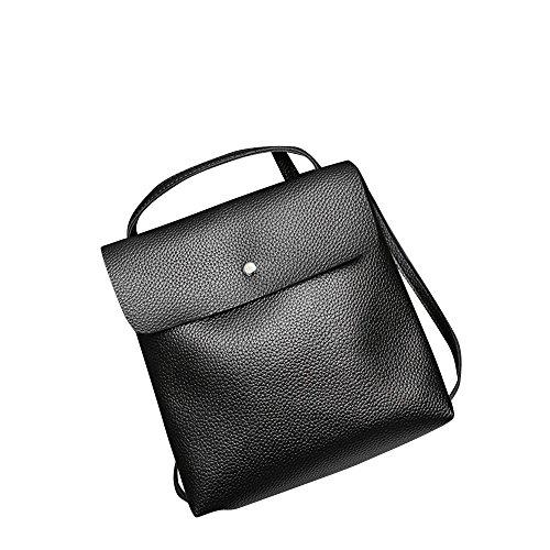 Kalbsleder-leder-satchel (Sale Sonnena Frauen Leder Satchel Taschen Reisen Volltonfarbe Rucksack Handtasche Schultertasche Mode Messenger Bag Freizeit Backpack Bag)
